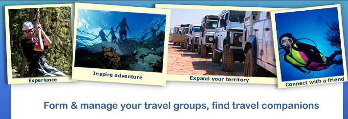 Form & manage your travel groups, find travel companions.